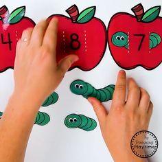 Cute Preschool Apple Theme Activities - Games and Centers for Preschool or Kindergarten. Cute Preschool Apple Theme Activities - Games and Centers for Preschool or Kindergarten. Preschool Learning Activities, Infant Activities, Preschool Activities, Literacy Games, Classroom Games, Fun Learning, Preschool Printables, Themes For Preschool, Games For Preschoolers