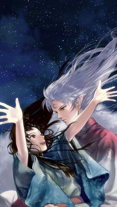 InuYasha - Sesshoumaru x Rin - SessRin Miroku, Kagome Higurashi, Manga Anime, Anime Guys, Noragami, Ghibli, Inuyasha Fan Art, Inuyasha And Sesshomaru, Inu Yasha