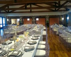 Rocky Mountain Catering has the room set up and ready for dinner and dancing at the Highlands Ranch Mansion