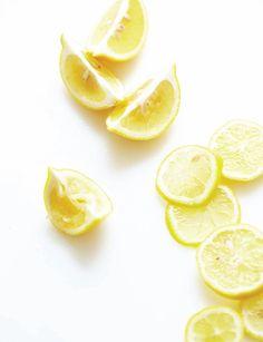 Lemons yellow and bright white