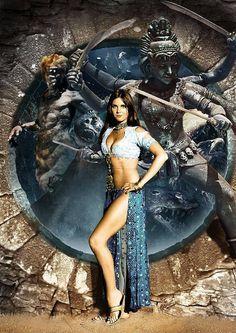 Film Science Fiction, Hammer Horror Films, Hammer Films, Sinbad The Sailor, Caroline Munro, Caroline Ray, Romantic Comedy Movies, Adventure Movies, Bond Girls
