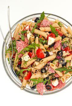 włoska sałatka z makaronem Pasta Salad, Salads, Food Porn, Food And Drink, Low Carb, Cooking Recipes, Lunch, Treats, Snacks