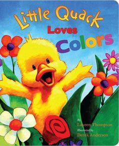 Join Little Quack and his sister Piddle as they explore the colorful world around them! Children will love learning their colors as Little Quack encounters bright red ladybugs, oozy brown mud, sweet,