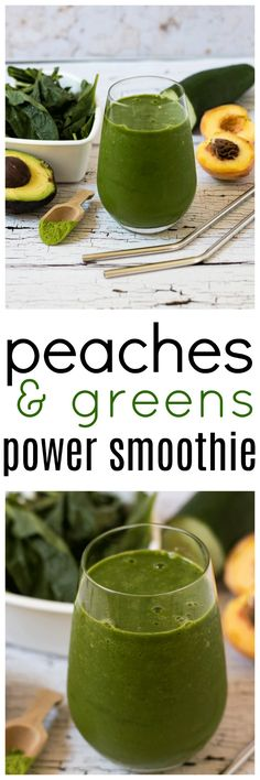 Squeeze as much goodness as you can into one smoothie with this super delicious Peaches and Green Power Smoothie packed with all the green goods. via @wholefoodbellies