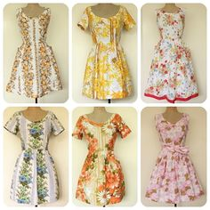 dresses from vintage bed sheets