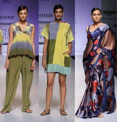 #Vintage-inspired patterns at Debarun #SS16 #fashion #trends #aifw