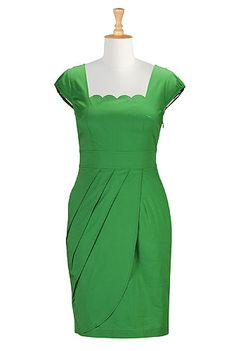 I REALLY like this dress for my wedding and the price point rocks! I this Scallop neck faux-wrap dress from eShakti Dresser, Scalloped Dress, Custom Dresses, Custom Clothes, Faux Wrap Dress, Night Outfits, Dress Me Up, Women's Fashion Dresses, Womens Fashion