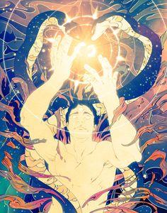 psychedelic digital art - This gorgeous collection of psychedelic digital art is by Boston, Massachusetts-based artist Chris Saunder. Chris has been a teacher at Art Center . Magazine Illustration, Art Et Illustration, Art Visionnaire, Art Hoe, Visionary Art, Oeuvre D'art, Illustrations Posters, Manga, Illustrators