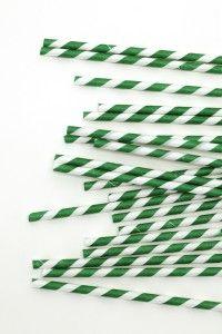 25 pk Green candy stripe straws @ $7.95