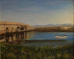 Cuadro al óleo: Puente Zuazo 1 San Fernando Cadiz, Bridge, Bridges, Picture Wall, Islands, Beach, Scenery, Water Colors, Dibujo