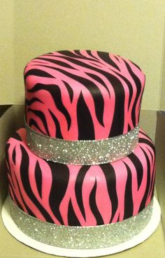 hot pink zebra cake - Google Search