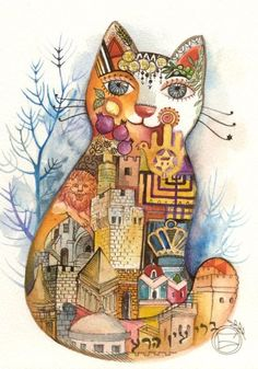 Extremely ingenious and beautiful cats painted by Oxana Zaika