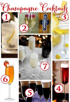 7 Champagne Cocktails for Valentine's Day!