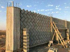 herringbone block wall