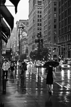 New York City in the rain!