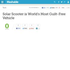 http://mashable.com/2013/05/16/solar-scooter-is-worlds-most-guilt-free-vehicle/ Solar Scooter is Worlds Most Guilt-Free Vehicle | #Indiegogo #fundraising http://igg.me/at/tn5/