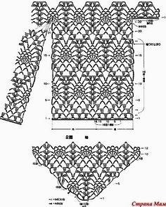 Diy Crafts - View album on Yandex. Diy Crochet Shorts, Diy Crafts Crochet, Crochet Cardigan Pattern, Crochet Blouse, Crochet Clothes, Crochet Projects, Crochet Motifs, Crochet Diagram, Crochet Stitches Patterns