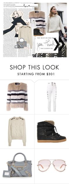 """""""you must do the thing you think you cannot do"""" by ellib ❤ liked on Polyvore featuring AINEA, Isabel Marant, Garance Doré, Balenciaga and Chloé"""