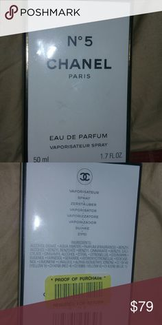 Chanel No 5 Perfume 1.7 oz New and Sealed 1.7 oz Chanel No 5 Guaranteed Authentic  New & Sealed CHANEL Other