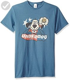 f0a66f10a Trevco Men's Underdog Flying Logo T-Shirt, Slate, 2XL - Cool and funny