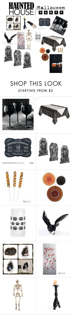 """""""Wt1 Halloween party,hntd hs"""" by gracie0312 ❤ liked on Polyvore featuring interior, interiors, interior design, home, home decor, interior decorating, Grandin Road and Halloweenparty"""