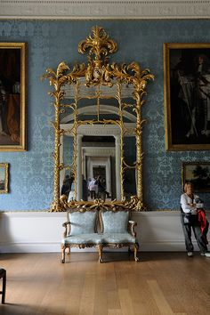 Robert Adam Mirror at Kedleston Hall-the State Dressing Room-mirror dated to the late Photo by Nick Kaye Diy Interior, Interior And Exterior, Interior Design, Design Art, Estilo Adam, Dressing Room Mirror, Adam Style, Georgian Architecture, Style Retro