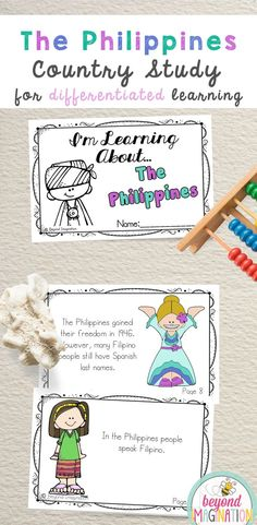 The Philippines Fun Fact country study booklet is perfect to use for an around the world unit, an international day, an international festival, a social studies unit, a cultural school project, a geography project, a cultural day, a cultural fair, a field day, or a multicultural day. #ThePhilippines #Philippines #country #booklet #study #tpt #gradeone #gradetwo #gradethree #gradefour #kindergarten Philippines Geography, Philippines Culture, Philippines Country, Philippines People, Kindergarten Special Education, Student Learning, Country Report, Social Studies Projects, Geography Lessons