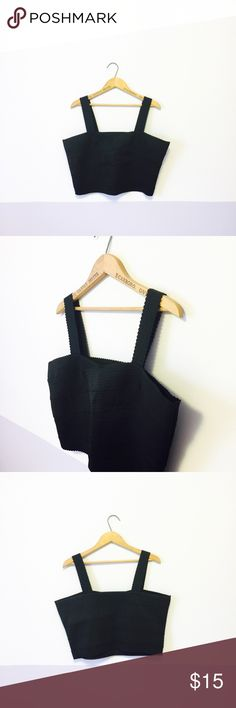 NWT Black Bandage Bralette This adorable Bralette is great for plus size girls & perfect for layering! It's super comfortable & it's new with tags. It's made from a bandage, stretchy material. H&M Tops Crop Tops
