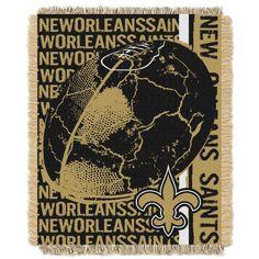 NFL New Orleans Saints Triple Woven Jacquard Throw Blanket