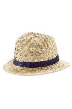 Avery Crocheted Fedora | Accompany Straw Fedora, Fedora Hats, Knit Crochet, Crochet Hats, Love Hat, Summer Hats, Kids Hats, Modern Boho, Hats For Women