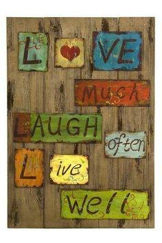 Love,live,laugh