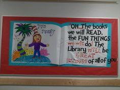 School bulletin board, for the library! Made by me!