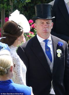 Royal Ascot 2017 - Mike Tindall -Having a good time, Mike? Queen And Prince Phillip, Prince William And Kate, Duke And Duchess, Duchess Of Cambridge, Kate Middleton, Mike Tindall, Zara Phillips, Kate And Meghan, Princess Anne