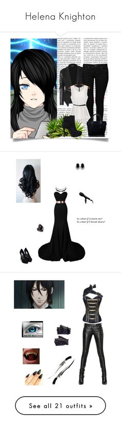 Helena Knighton by kaitlynpope77 on Polyvore featuring polyvore fashion style clothing Charlotte Russe Nly Shoes Don't AsK Balmain Les Cinq Sebastian Professional Bordelle Christian Louboutin Leg Avenue Zac Posen Blue Nile Ted Baker ADORNIA Yves Saint Laurent Bling Jewelry Topshop Sergio Rossi Opening Ceremony Miss Selfridge River Island 1928 black Sexy stylish MyStyle mycharacter Baccarat Paul Andrew cute darkblue Masquerade REMINISCENCE Dsquared2 Witchery J.Crew Melissa Joy Manning…