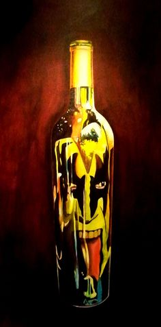 """Lick it Up"" 18"" by 36"" Acrylic on Canvas Original http://www.rockstargallery.net/stacey-wells #genesimmons #kiss"