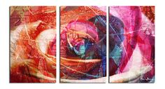 """Alexis Bueno 'Abstract Rose' Canvas Wall Art (3-Piece) Alexis Bueno 'Abstract Rose' Canvas Wall Art (3-Piece)  'Abstract Rose' epitomizes strength and beauty wrapped in one.   """"Be patient and don't give up. Trust me when I say you will come out changed and stronger on the other end of this."""" -Brenda Jones"""