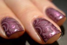 Love Varnish: OPI I'm Feeling Sashy stamped with China Glaze Joy