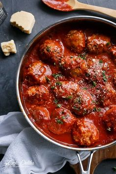Turkey meatballs with the most delicious sauce! Super easy, too!