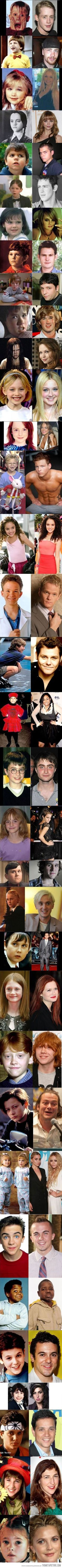 Celebrities then and now…