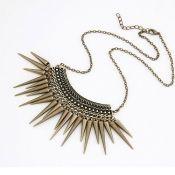 $2.99 European Styles Vintage Golden Rivet Embellished Metal Necklace