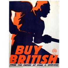 1930s Poster by Tom Purvis: Buy British from the Empire at Home & Overseas | From a unique collection of antique and modern posters at http://www.1stdibs.com/furniture/wall-decorations/posters/