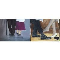 Friends for life, A set of 5 Oil Paintings, All Paintings Oil on Canvas 10 X 12 ins, each