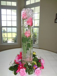 HURRICANE VASES WITH FLOWERS IN WATER | Beautiful Water Beads for Vases - An Easy to Make Centerpiece