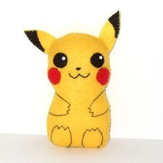 Super cute Pikachu felt plushie by yael360 on Etsy, $12.50