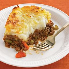 Cheddar-topped Shepherd's Pie. Added Worcestershire sauce to ours.