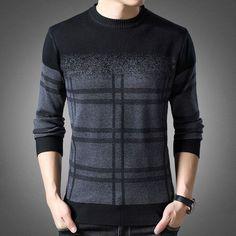2020 New Fashion Brand Sweater Mens Pullovers Thick Slim Fit Jumpers Knitwear Woolen Winter Korean Style Casual Clothing Men Fashion Brand, New Fashion, Korean Fashion, Sweater Fashion, Men Sweater, Stripes Fashion, Casual Sweaters, Mens Clothing Styles, Knitwear
