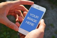 man-using-white-iphone-vertical-screen-outdoors-hands-template