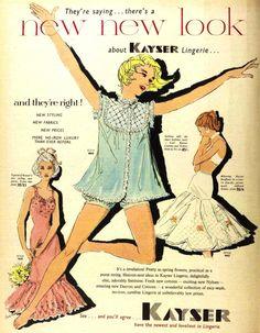 Vintage Advertisements, Vintage Ads, Vintage Sewing, Vintage Stuff, Sewing Lingerie, Retro Lingerie, 1950s Fashion, Vintage Fashion, Lounge Outfit