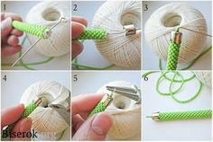 How to attach ends to bead crochet rope Bead Crochet Patterns, Bead Crochet Rope, Beading Patterns, Seed Bead Bracelets Tutorials, Beaded Bracelets Tutorial, Crochet Beaded Bracelets, Beaded Earrings Patterns, Diy Schmuck, Bead Jewellery