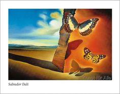 Salvador Dalí - Paysage aux pappillons